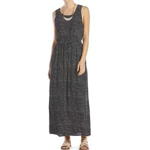 Lucky Brand Drawstring Maxi Dress